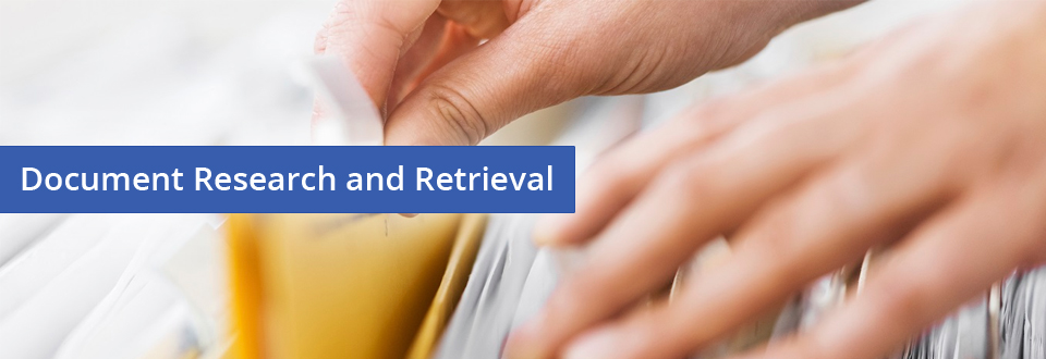 Document Research and Retrieval - Countrywide Process